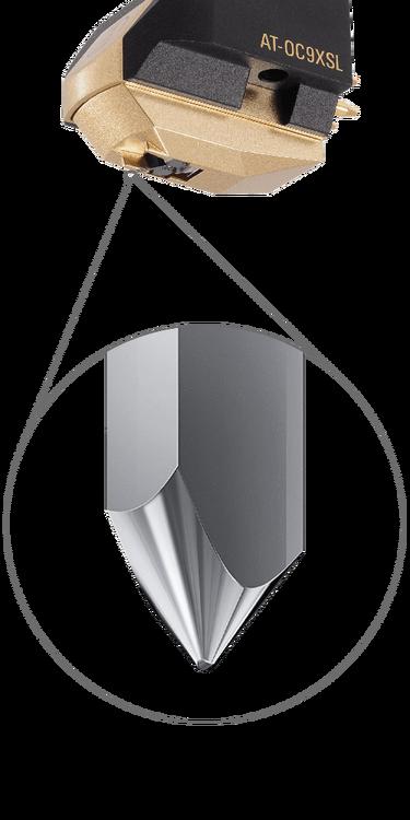 Audio-Technica AT-OC9XSL Dubbel rörlig spole med Special Line contact slipning av nål