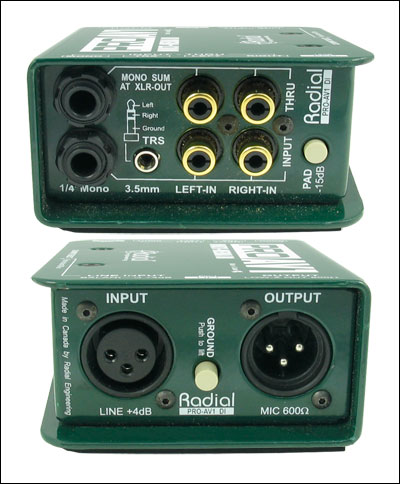 PROAV1 Radial Mono Passive Multimedia Direct Box