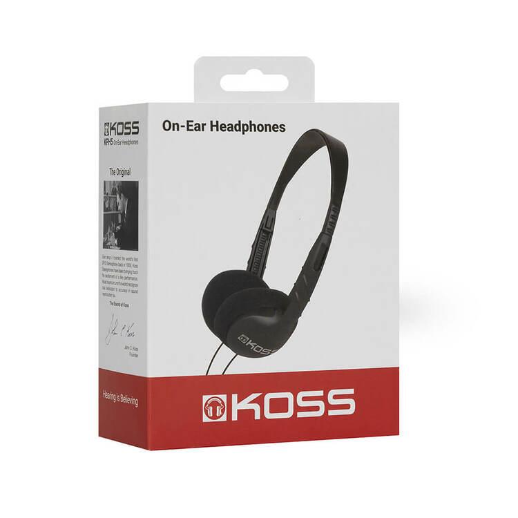 KOSS Hörlur KPH5 On-Ear Svart