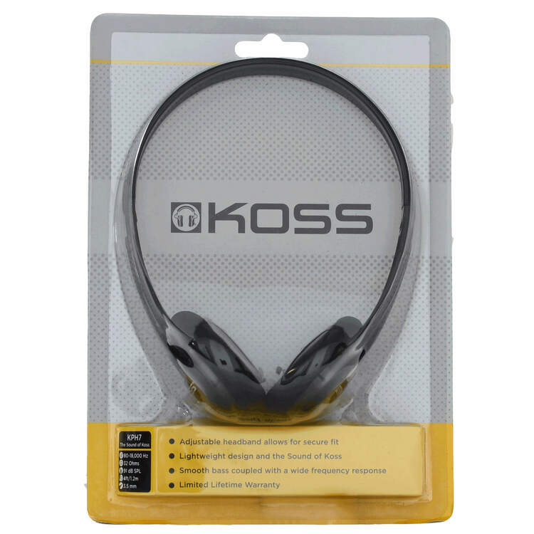 KOSS Hörlur KPH7 On-Ear Svart