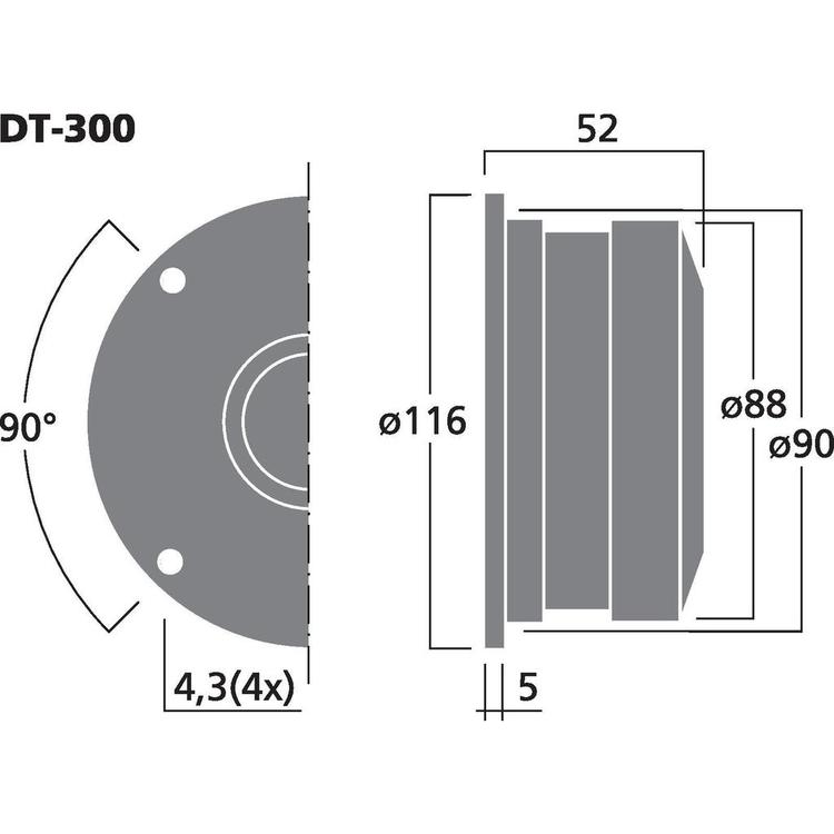 Monacor DT-300 Dome diskant