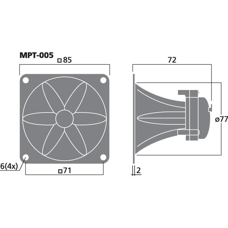 Monacor MPT-005 Piezohorn