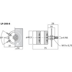 Monacor LP-200-8 L-pad stereo, 15W