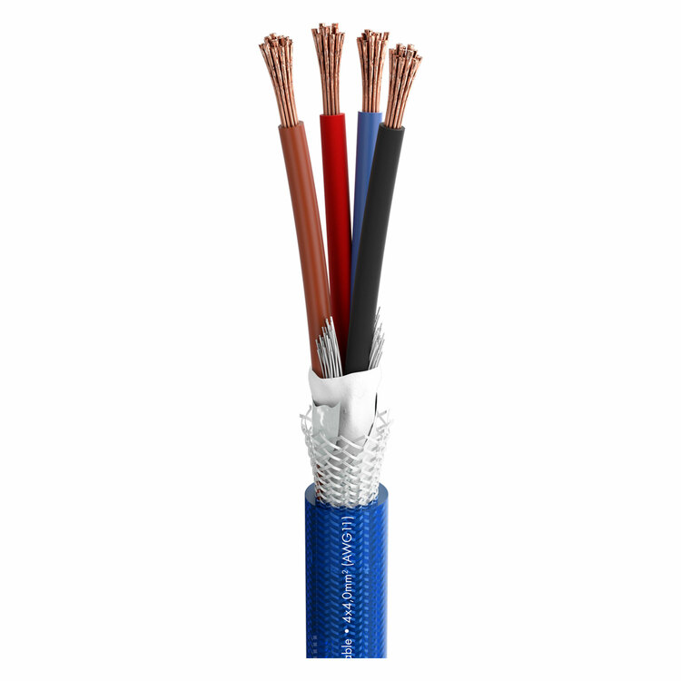 Sommer Cable 485-0052-440 High-End Skärmad Högtalarkabel,4-ledare