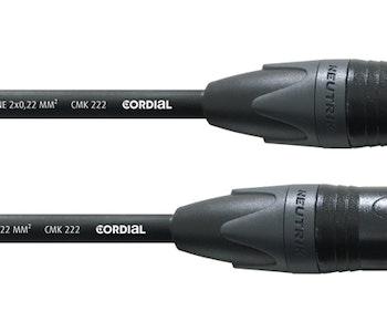 Cordial CPM 6 FM 6m, Neutrik XLR mikrofonkabel, svart
