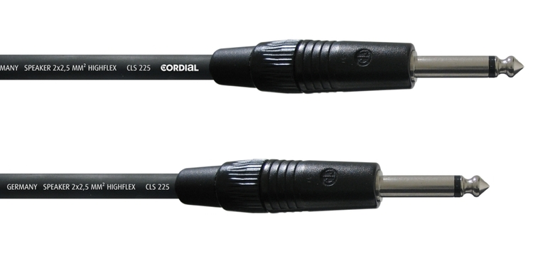 Cordial CPL 1,5 PP 25 1,5m högtalarkabel, telekontakter