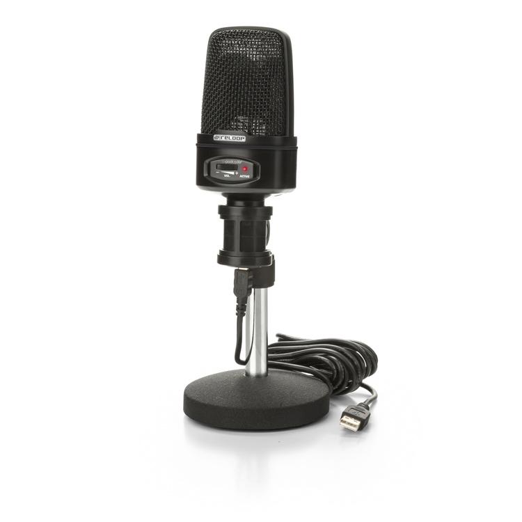 Reloop SPODCASTER USB-mikrofon för podcasting