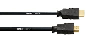 Cordial CHDMI 1m HDMI Kabel med 2x HDMI A kontakter