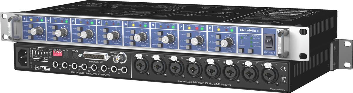 RME OCTAMIC2, Mic Preamp 8-channel, 24 bit 192kHz