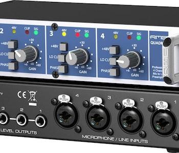 RME QUADMIC2, 4-channel, Class-A Mic/Line Preamp.