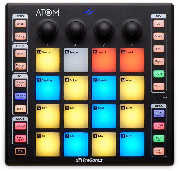 Presonus Atom, Pad controller produktion och framförande