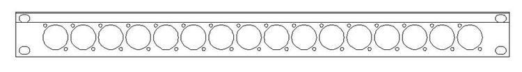 SMRT SP1116X Panel helrack 1HE