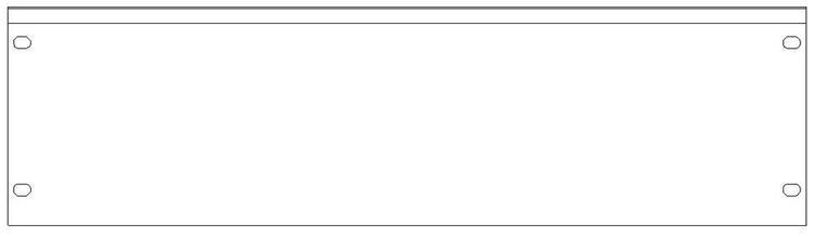 """SMRT Panel SP31 Hel 19"""" 3HE Blindpanel"""