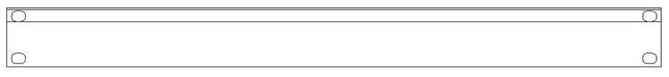 """SMRT Panel SP11 Hel 19"""" 1HE Blindpanel"""