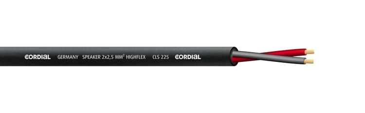 Cordial CLS 225 Högtalarkabel, svart, 2x2,50 mm² (pris/m)