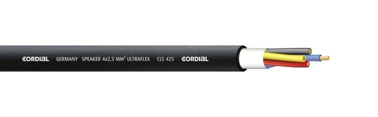 Cordial CLS 425  Högtalarkabel, svart, 4x2,50 mm² (pris/m)