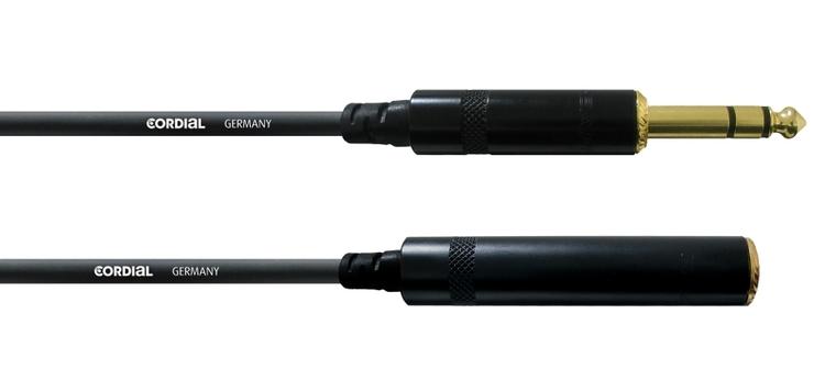Cordial CFM 5 VK 6,3mm tele, 5m förlängning, svart