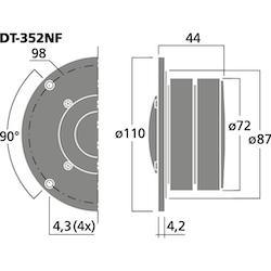 "Monacor DT-352NF, 1""  dome diskant"