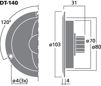 Monacor DT-140 1'' dome diskant