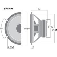 Monacor SPH-6M 6'' Hi-fi Bas/mellanregisterhögtalare