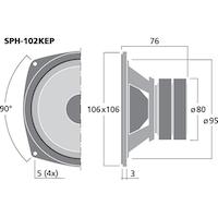 Monacor SPH-102KEP 4'' mellanregisterhögtalare