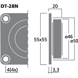 Monacor DT-28N Dome diskant