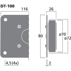 Monacor DT-100 1'' dome diskant