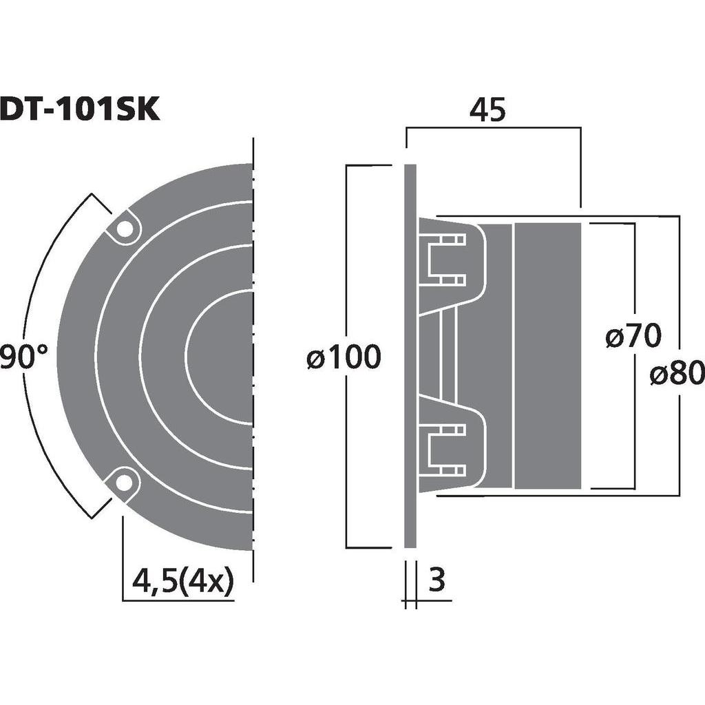 Monacor DT-101SK 1'' dome diskant