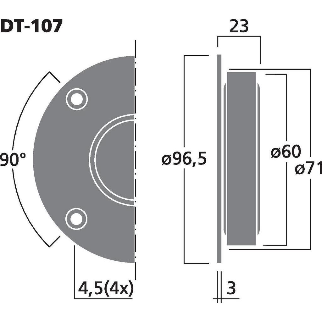 Monacor DT-107 1'' dome diskant