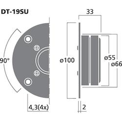 Monacor DT-19SU 3/4'' dome diskant