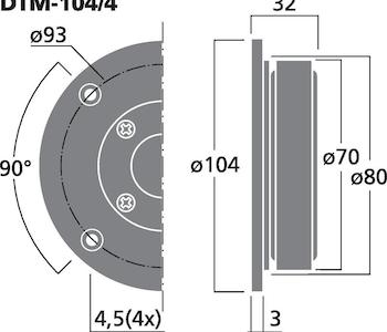 Monacor DTM-104/4 HiFi dome diskant (4ohm)