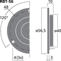 Monacor RBT-56 Banddiskant