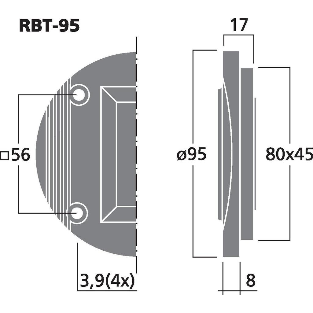 Monacor RBT-95 Banddiskant