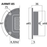 Monacor AIRMT-85 Banddiskant