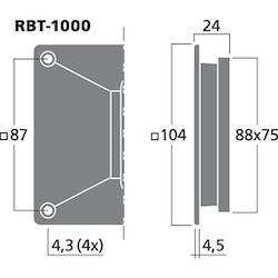 Monacor RBT-1000 Banddiskant