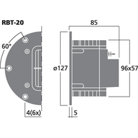 Monacor RBT-20 Banddiskant set (pris/par)