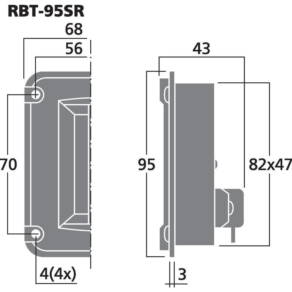 Monacor RBT-95SR Banddiskant