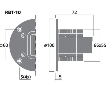 Monacor RBT-10 Banddiskant set (pris/par)