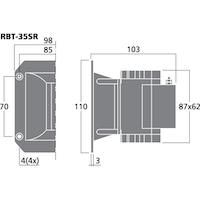 Monacor RBT-35SR Banddiskant set (pris/par)