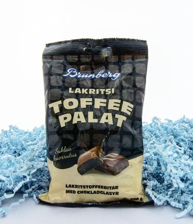 Chokladöverdragen lakritstoffee UTGÅNGET DATUM