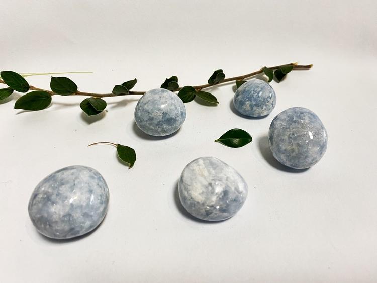 Blå Kalcit (cuddle stone)