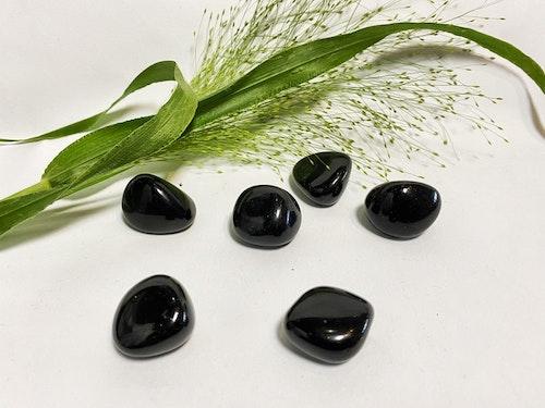 Svart Obsidian (trumlade) AA