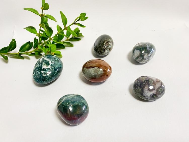 Moss agat AA  (cuddle Stone)