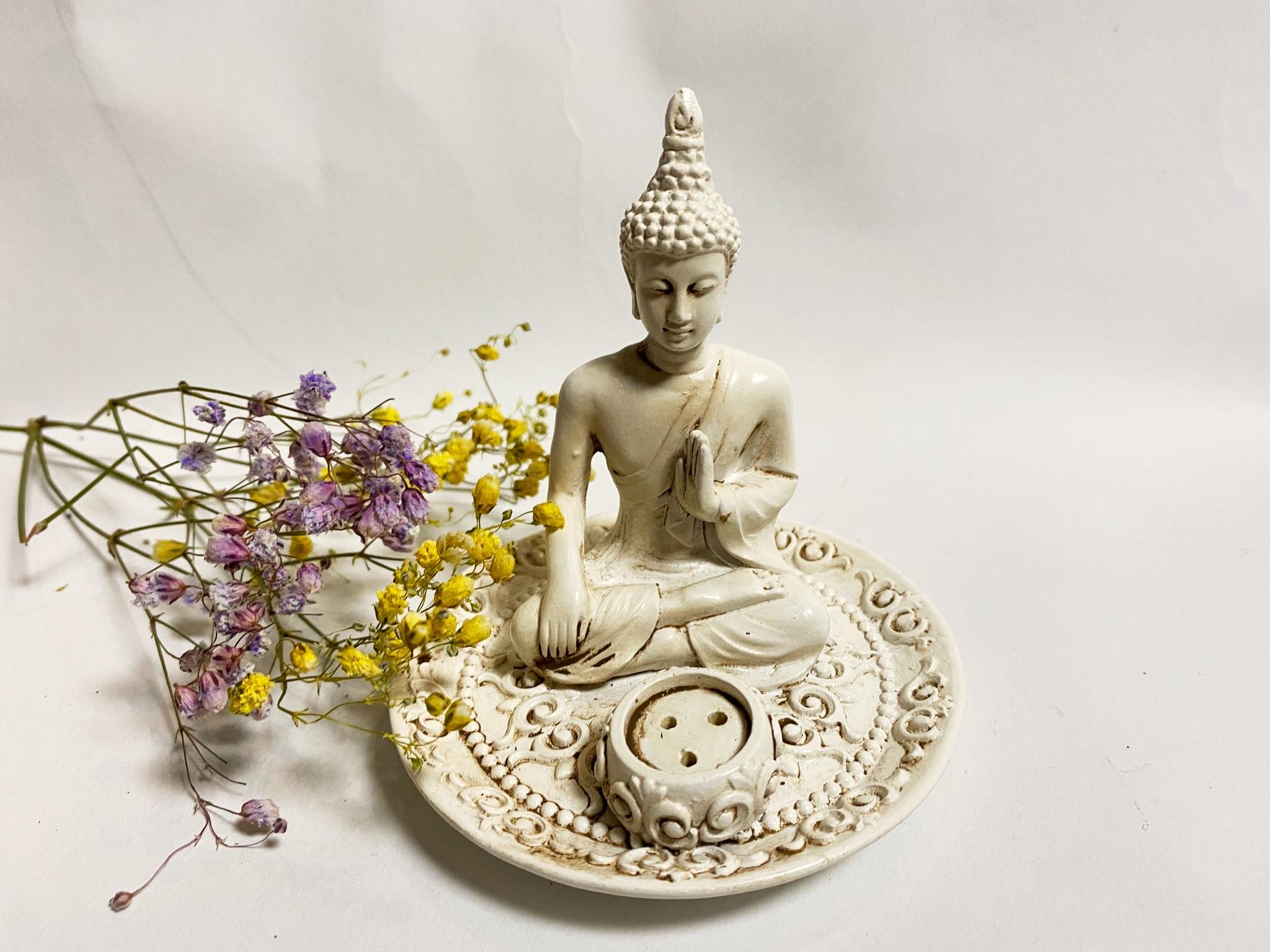 Rökelsehållare, Buddha Vit