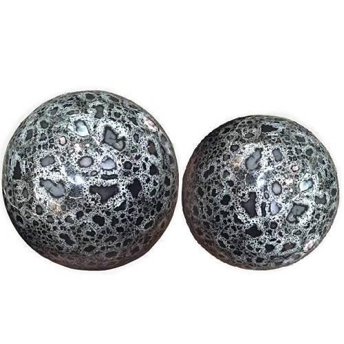 Dekorativt klot i keramik grått 8 cm Ø