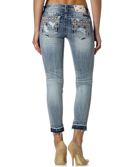 Miss Me - Destructed Skinny Ankle Jeans