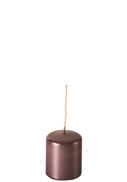 Blockljus - Rosabrun Metallic - Ø4 x 5cm