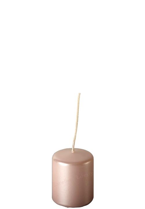 Blockljus - Babyrosa Pärlemor - Ø4 x 5cm