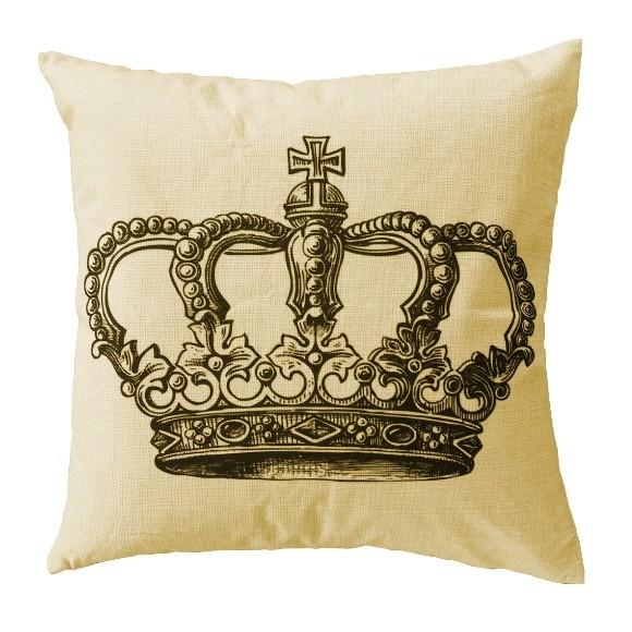 Kuddfodral med krona