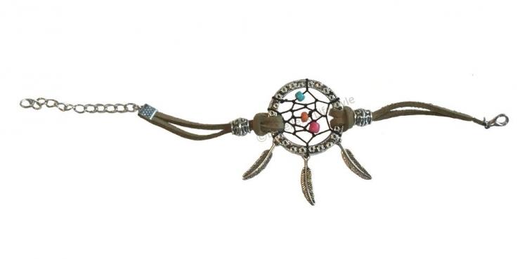 Armband med drömfångare - dreamcatcher - Militärgrön